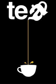 Tea - Pouring from such a great height is only for the most reckless of tea drinkers. Or for those with plastic topped table cloths. So la da di da di we like to tea party ❤️☕⏰ Graphisches Design, Logo Design, Design Ideas, Typographie Logo, Logos, Plakat Design, Cuppa Tea, Poster S, Party Poster