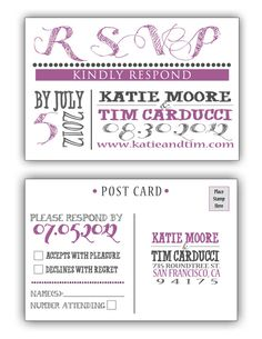 include our wedding website    Wedding Invitation and RSVP Postcard  Old by AshleeAlaineDesigns, $30.00