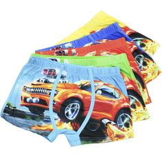 5 Pcs/lot Kawaii Cotton Kids Boys Underwear  Soft Cartoon Children's Pants Baby Boxer Underpants Briefs Boy Underware 3-13 Year