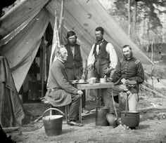 Civil War Confederate Soldiers taking coffee