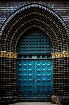 Lubeck, Schleswig-Holstein, Germany - Home Decor Grand Entrance, Entrance Doors, Doorway, Entrance Lighting, Entrance Halls, Cool Doors, Unique Doors, Islamic Architecture, Architecture Details
