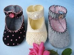 SALE - PDF ePattern Doris Jane Baby Shoes - Booties with Ankle Straps - Sewing Pattern
