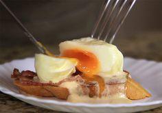 Быстрый, вкусный и нарядный завтрак - яйца бенедикт под соусом оландез (hollandaise)