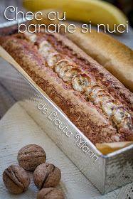 Din bucătăria mea: Chec cu banane si nuci Romanian Desserts, Romanian Food, Romanian Recipes, Russian Cakes, Sweets Cake, Cata, Sweet Bread, Bread Baking, Hot Dog Buns