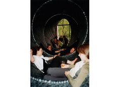 The Cocoon - Lounge space woven from 3 km inner bicycle tubes