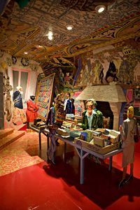 interior/ Red Grooms....the Bookstore