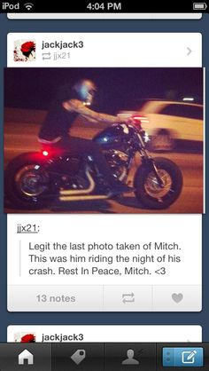 the very last picture.... Even thou I never met Mitch I know he was a wonderful person and you will never be forgotten RIP love you Mitch Lucker