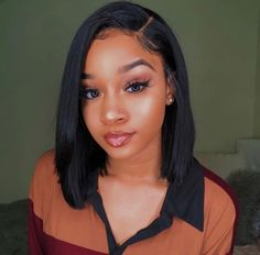 Provide High Quality Full Lace Wigs With All Virgin Hair And All Hand Made. Wholesale Human Hair Wigs White People With Black Hair Black Purple Hair Short Bob Wigs, Short Bob Hairstyles, Wig Hairstyles, Wig Bob, Hairstyle Ideas, Black Girl Short Hairstyles, Bangs Hairstyle, Straight Weave Hairstyles, Easy Hairstyle