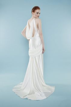 Look stunning on your wedding day in this elegant sheath gown. | Style Name: Aphrodite |  Brand: Master/slave | Made to order |  #weddingdress #bridalgown #gownbridal #weddinggown #bridaldress #wedding #sheath