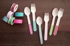 Party ideas using colored tape-this is such a cute idea and it takes literally no time to do this and it makes things more festive!!!