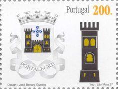 Sello: Portalegre (Portugal) (District Coat of Arms) Mi:PT 2212,Afi:PT 2444