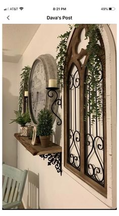 Mirror Decor Living Room, Home Living Room, Entryway Decor, Arched Wall Decor, Arched Window Mirror, Farmhouse Decor, Rustic Decor, Tuscany Decor, Family Room Walls