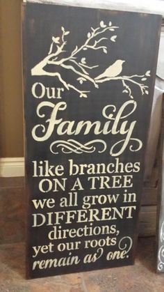 Family Roots Sign/Mothers Day Sign/Gift/Family Branches//Great Mothers Day or Family Gift This is a painted wood sign. It is stained, painted in either barn wood red or black background with antique white accents. Please make your color selection in the box when ordering. The paint is slightly distressed then sealed for indoor use. A claw tooth hanger is installed. These are rustic signs that are painted once ordered. Knots and cracks in wood are not filled in as they...