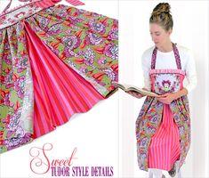 Tudor Style Apron in Tula Pink's Elizabeth: FreeSpirit Fabrics | Sew4Home