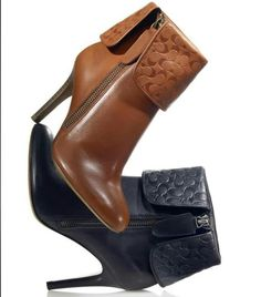 Coach boots, love love love these boots! Have them in black, I think I need the brown pair ;)