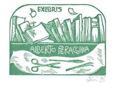 Ex libris di Mariaelisa Leboroni per Alberto Peracchia