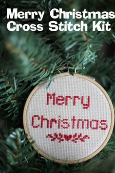 Merry Christmas Cross Stitch Kit