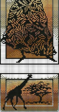 African cross stitch.