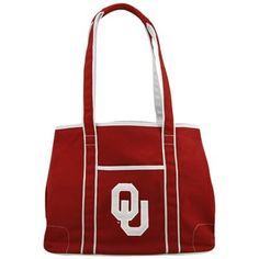 Oklahoma Sooners Crimson Hampton Canvas Tote Boomer Sooner a392ecb6ac9e0