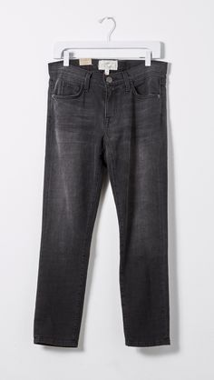 The Fling Black Boyfriend Jeans by Current/Elliott