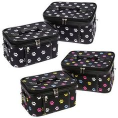 Paw Print Cosmetic Cases - Set of 2