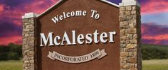 Just so you know right where you landed, mcalester Oklahoma always welcomes you!:)