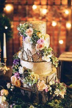 Торт для лесной свадьбы