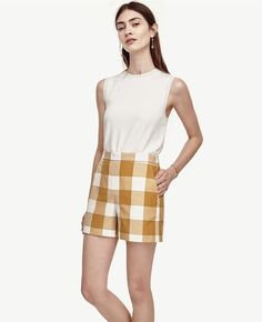 Pin for Later: 28 Stylish Pieces to Make You Best Dressed at the BBQ  Ann Taylor Gingham High Waist Shorts ($59)