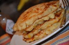 MAC N CHEESE PANCAKE. have made these and wish i could make them now