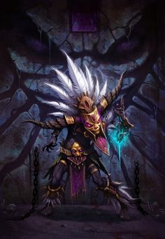 Witch Doctor by Wei Wang #ArtofBlizzard