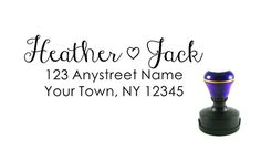 Self inking custom Personalized Return address Name rubber stamp R178