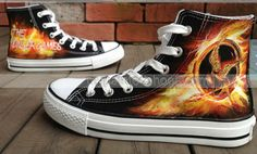 #Mockingjay Inspire Hunger Game Hand Painted Shoes