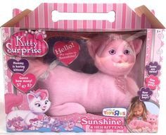 """Kitty Surprise """"Sunshine"""" Cat with 3, 4 or 5 Kittens. It's A Surprise! New 2014  #JustPlay"""