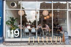 119 Lower Clapton / Local independent coffee shop serving artisan coffee, teas and fresh food / 119 Lower Clapton Rd, London E5 0NP