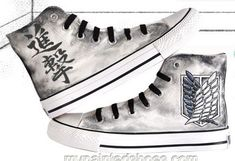 attack on titan Shoes hand painted Shoes anime shoes #anime