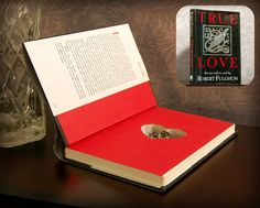 Hollow Book Safe with Heart True Love by SecretSafeBooks on Etsy