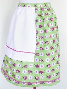 Lined up Ladybugs apron with white towel and pink trim. $25 plus postage if required.  Please message with orders.  wendyjh@live.com.au