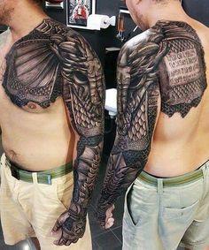 Armor tattoo.