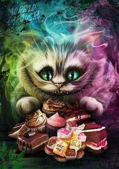 Cheshire Cat Alice In Wonderland, Alice In Wonderland Drawings, Alice And Wonderland Quotes, Wonderland Party, Cheshire Cat Tattoo, Chesire Cat, Tattoo Cat, Cheshire Cat Drawing, Cheshire Cat Quotes