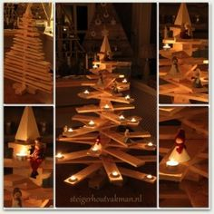 latten kerstboom