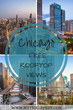 , Top Chicago Rooftops - Where to find panoramic views of downtown for free - My Ticklefeet , Why pay for rooftop views when you can get them for free? Here are the best rooftops you can view Chicago skyline from. Chicago Vacation, Chicago Travel, Travel Usa, Chicago Trip, Rooftop Chicago, Visit Chicago, Travel Portland, Moving To Chicago, Chicago Chicago