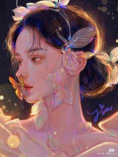 Fantasy Art Women, Beautiful Fantasy Art, Digital Art Anime, Digital Art Girl, Anime Art Girl, Manga Art, Pretty Art, Cute Art, Aesthetic Art