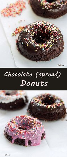 Chocolate (spread) Donuts. #Chocolate #donuts  #Nutella