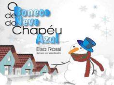 O boneco de_neve_do_chapeu_azul