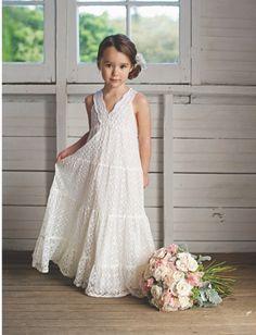 Sweet lace flowergirl dress