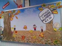 """""""Happiness is Making New Friends"""" Peanuts-Themed Bulletin Board Idea"""