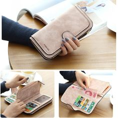 20.39$  Watch here - http://vibtv.justgood.pw/vig/item.php?t=vd4dx2y311 - 14 Card Slots Woman Four Fold Wallet Purse PU Card Bag Multi-Card Slots Phone Ba