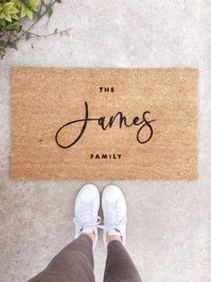 The perfect way to welcome your guests! This last name custom doormat also makes for the perfect housewarming gift and wedding gift. Theres nothing like receiving such a special personalized gift! Custom Wedding Gifts, Handmade Wedding, Wedding Unique, Elegant Wedding, Dream Wedding, Fall Doormat, Block Fonts, Fall Door Decorations, Fall Decor