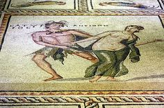 Zeugma mosaic possibly Antiope & the Satyr