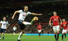 MANCHESTER, ENGLAND - DECEMBER Harry Kane of Tottenham Hotspur controls the ball during the Premier League match between Manchester United and Tottenham Hotspur at Old Trafford on December 2016 in Manchester, England Man United, Harry Kane, Premier League Matches, Old Trafford, Manchester United, Manchester England, Tottenham Hotspur, The Unit, Football